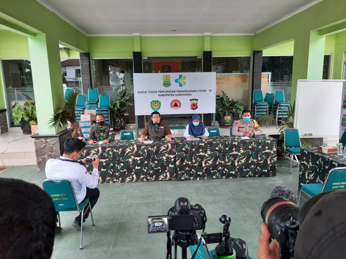 positif Covid-19 di Kabupaten Karawang